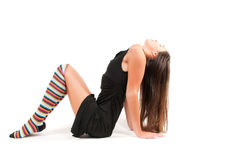 Woman in stockings Royalty Free Stock Photo