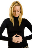 Woman with stomach issues Royalty Free Stock Photo