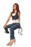 Woman on a stool Stock Photos