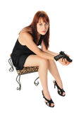 Woman on a stool Stock Photos