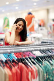 Woman in store stock images