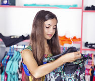 Woman at a store Royalty Free Stock Photography