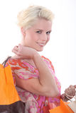 Woman with storebags Royalty Free Stock Images