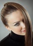Woman with straight long hair. Beautiful woman with straight long hair Royalty Free Stock Images