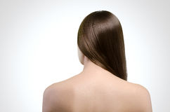 Woman. Straight long hair. Natural.  Concept. Attractive model Royalty Free Stock Photos