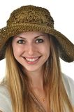 Woman with Straw Hat Royalty Free Stock Photo