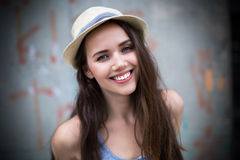 Woman in straw hat Royalty Free Stock Photo