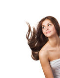 Woman with streaming hair Royalty Free Stock Photo
