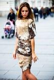 Woman on street royalty free stock photo