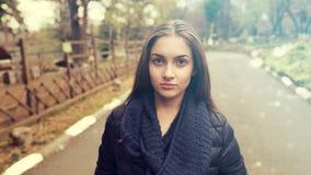 Woman on street Stock Photo