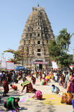 Woman during a street design competition at Hampi Stock Images