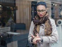 Woman on the street Stock Photo