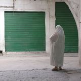 Woman in the street. Tripoli, Lybia - May 02, 2002: Woman in the streets of Tripoli Stock Image
