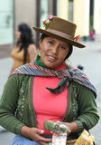 Woman street vendor in Peru Stock Image