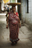 Woman in streets of Varanasi Stock Photos