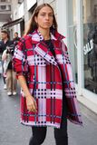 MILAN, Italy: 19 september 2018: Woman streetstyle outfit after BYBLOS fashion show. Woman streetstyle outfit after BYBLOS fashion show during Milan fashion week stock images