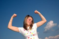 Woman strength Stock Photo