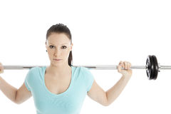 Woman during training Royalty Free Stock Photo