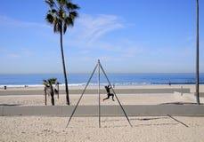 Woman strength training Venice california Stock Photos
