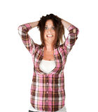 Woman in stress Royalty Free Stock Images