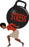 Woman and stress Royalty Free Stock Images