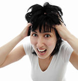 Woman stress Stock Photos