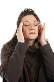 Woman with Stress Headache Royalty Free Stock Photos