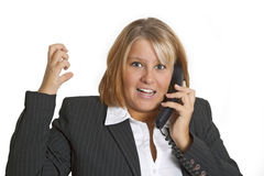 Woman with stress in the office Stock Photos