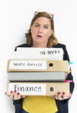 Woman Stress Overload Hard Working Concept Royalty Free Stock Photo