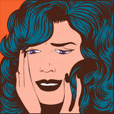 Woman stress. Pop art comics Stock Image