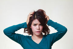 Woman stress Stock Photography