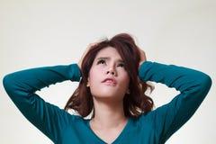 Woman stress Stock Image