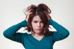 Woman stress Royalty Free Stock Photo