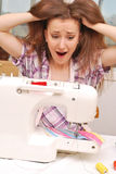 Woman in stress at work Stock Image