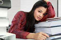 Woman stressed Stock Photography