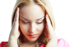 Woman stressed Royalty Free Stock Photography