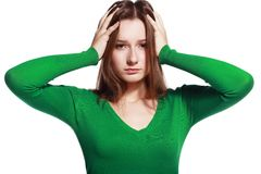 Woman stressed Stock Image