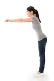 Woman stretch her hands Royalty Free Stock Images