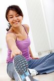 Woman stretching Royalty Free Stock Image