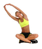 Woman Stretching Royalty Free Stock Photos
