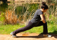 Woman Stretching 3 royalty free stock images