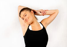 Woman stretching Stock Photos