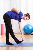 Woman during stretching Stock Photo