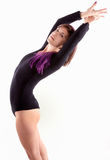 Woman Stretching in Black Leotard Royalty Free Stock Photography