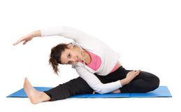 Woman stretching body Royalty Free Stock Images