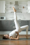 Woman stretching in Bridge exercise Royalty Free Stock Images