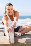 Woman stretching exercise Royalty Free Stock Image