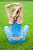 Woman stretching before Fitness Royalty Free Stock Image