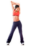Woman stretching her arm Royalty Free Stock Photography