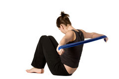 Woman is stretching her arms Royalty Free Stock Image